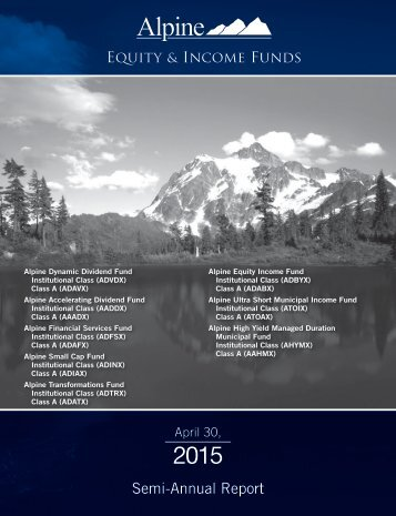 Semi-Annual Report - Alpine Funds
