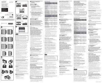Sony SEL35F28Z - SEL35F28Z Istruzioni per l'uso Lituano