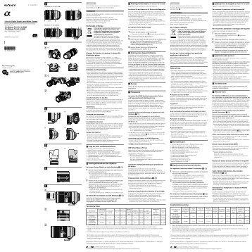 Sony SAL70300G - SAL70300G Istruzioni per l'uso Olandese