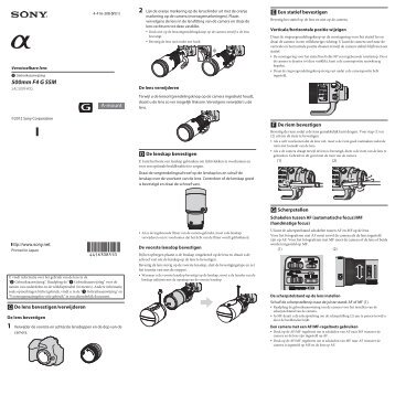 Sony SAL500F40G - SAL500F40G Istruzioni per l'uso Olandese