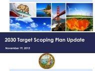 2030 Target Scoping Plan Update