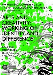 PROPOSALS ARTS AND CREATIVITY WORKING ON IDENTITY AND DIFFERENCE