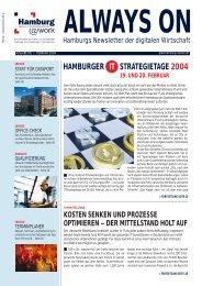 HAMBURGER IT STRATEGIETAGE 2004 - Hamburg@work