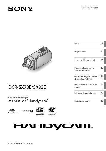 Sony DCR-SX73E - DCR-SX73E Istruzioni per l'uso Portoghese