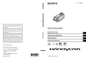Sony DCR-SX73E - DCR-SX73E Istruzioni per l'uso Danese