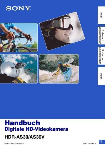 Sony HDR-AS30V - HDR-AS30V Guida all'uso Tedesco
