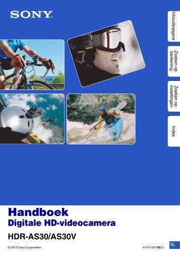 Sony HDR-AS30V - HDR-AS30V Guida all'uso Olandese