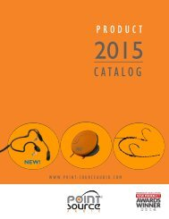 Download Product Guide (PDF) - Point Source Audio