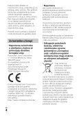 Sony HDR-CX620 - HDR-CX620 Istruzioni per l'uso Serbo - Page 4