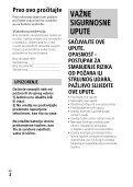 Sony HDR-CX620 - HDR-CX620 Istruzioni per l'uso Croato - Page 2