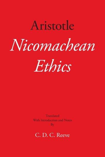 (Hackett Classics) Aristotle, C. D. C. Reeve (Trans.)-Nicomachean Ethics-Hackett Publishing (2014)