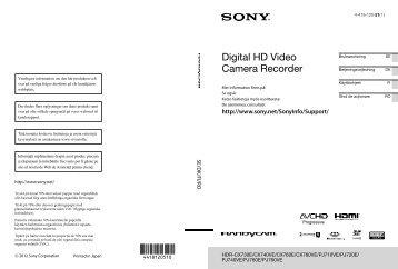 Sony HDR-CX730E - HDR-CX730E Istruzioni per l'uso Svedese