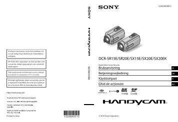 Sony DCR-SX15E - DCR-SX15E Istruzioni per l'uso Finlandese