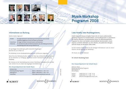 Workshop Programm (PDF - 700 KB) - Schott Music