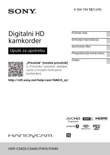 Sony HDR-CX405 - HDR-CX405 Istruzioni per l'uso Croato