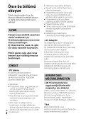 Sony HDR-PJ240E - HDR-PJ240E Istruzioni per l'uso Turco - Page 2
