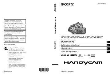 Sony HDR-XR520E - HDR-XR520E Istruzioni per l'uso Rumeno
