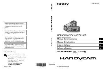 Sony HDR-CX100E - HDR-CX100E Istruzioni per l'uso Turco