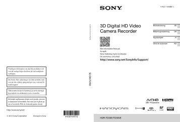 Sony HDR-TD30E - HDR-TD30E Istruzioni per l'uso Svedese