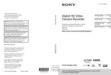 Sony HDR-CX760E - HDR-CX760E Istruzioni per l'uso Ceco