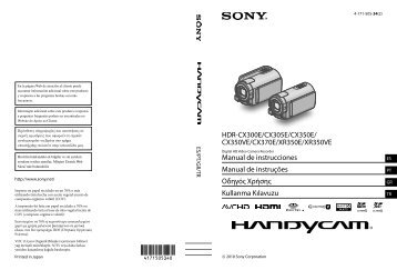 Sony HDR-CX350E - HDR-CX350E Istruzioni per l'uso Turco