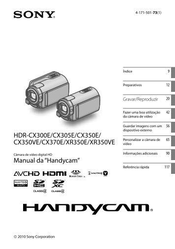 Sony HDR-CX350E - HDR-CX350E Istruzioni per l'uso Portoghese