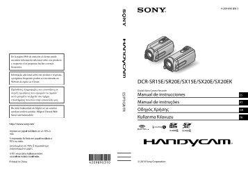 Sony DCR-SR20E - DCR-SR20E Istruzioni per l'uso Turco