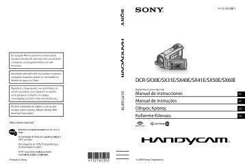 Sony DCR-SX41E - DCR-SX41E Istruzioni per l'uso Spagnolo