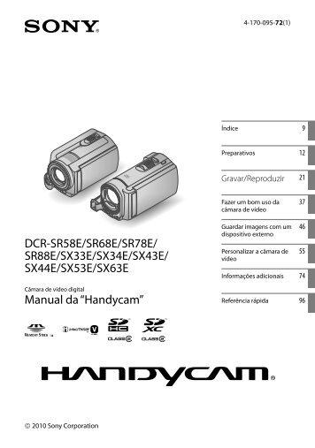 Sony DCR-SR78E - DCR-SR78E Istruzioni per l'uso Portoghese
