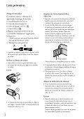 Sony DCR-SR78E - DCR-SR78E Istruzioni per l'uso Portoghese - Page 2
