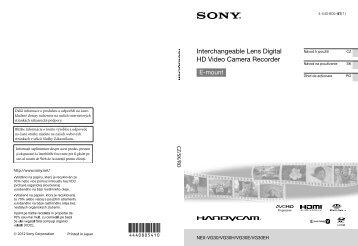 Sony NEX-VG30E - NEX-VG30E Istruzioni per l'uso Ceco