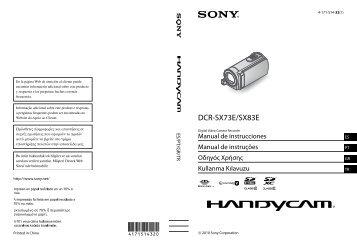 Sony DCR-SX83E - DCR-SX83E Istruzioni per l'uso Spagnolo
