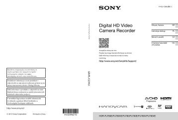 Sony HDR-PJ780VE - HDR-PJ780VE Istruzioni per l'uso Ceco