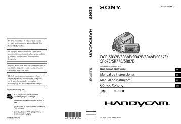 Sony DCR-SR67E - DCR-SR67E Istruzioni per l'uso Turco