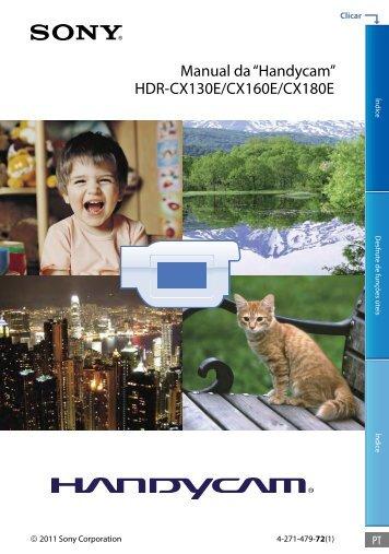 Sony HDR-CX130E - HDR-CX130E Istruzioni per l'uso Portoghese