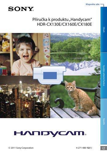 Sony HDR-CX130E - HDR-CX130E Istruzioni per l'uso Ceco