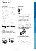 Sony HDR-CX130E - HDR-CX130E Istruzioni per l'uso Ceco - Page 3