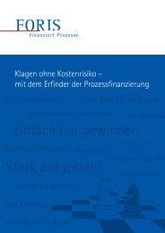 Klagen ohne Kostenrisiko - Foris AG
