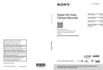 Sony HDR-CX410VE - HDR-CX410VE Istruzioni per l'uso Polacco