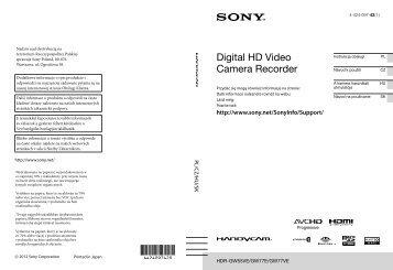Sony HDR-GW55VE - HDR-GW55VE Istruzioni per l'uso Polacco