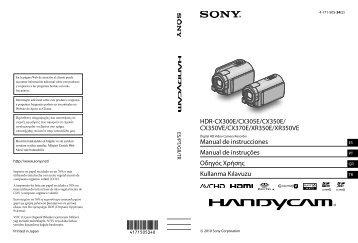 Sony HDR-CX300E - HDR-CX300E Istruzioni per l'uso Greco