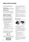 Sony DCR-SR35E - DCR-SR35E Istruzioni per l'uso Sloveno - Page 2