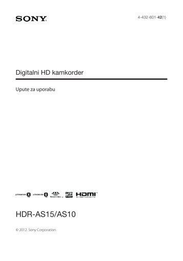 Sony HDR-AS15 - HDR-AS15 Istruzioni per l'uso Croato