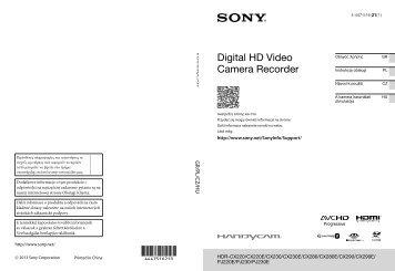 Sony HDR-CX280E - HDR-CX280E Istruzioni per l'uso Ceco