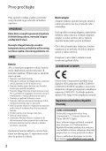 Sony HDR-CX520VE - HDR-CX520VE Istruzioni per l'uso Croato - Page 2