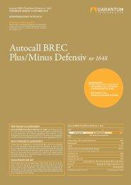 Autocall BREC Plus/Minus Defensiv