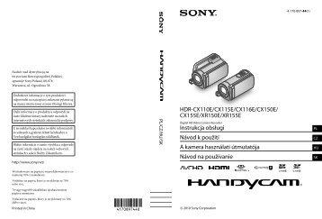 Sony HDR-XR155E - HDR-XR155E Istruzioni per l'uso Ceco
