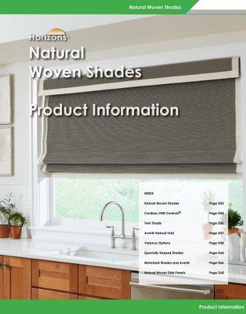 Natural Woven Shades Product Information