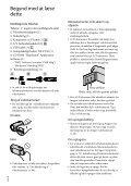 Sony HDR-CX116E - HDR-CX116E Istruzioni per l'uso Danese - Page 2